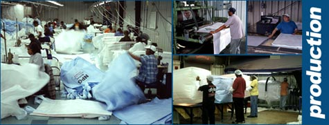 Picture of Production of Bulk Bags in Warehouse
